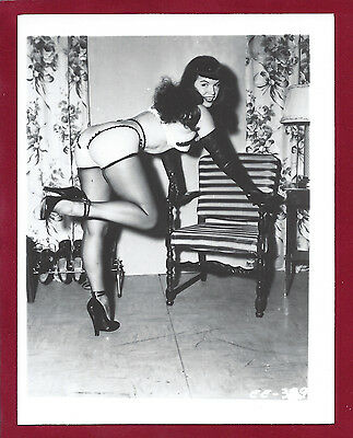 1960's Vintage Risque Nude Photo~Irving Klaw~Sultry Posed Busty Pinup Betty Page