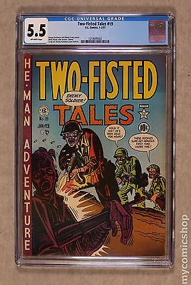 Two Fisted Tales (1950 EC) #19 CGC 5.5 1218695002