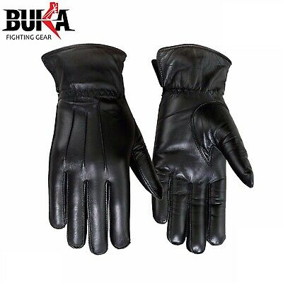 Winter Dress Gloves Women Thermal Linning Real Leather Ladies Glove Black  S-XL