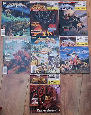 9 DRAGON magazines 227-254 + Annual #1. AD&D Dungeons and Dragons bundle job lot