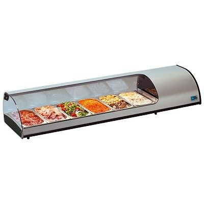 Tapas Bar Cold Snacks Refrigerated Cold Counter Fridge Display Unit