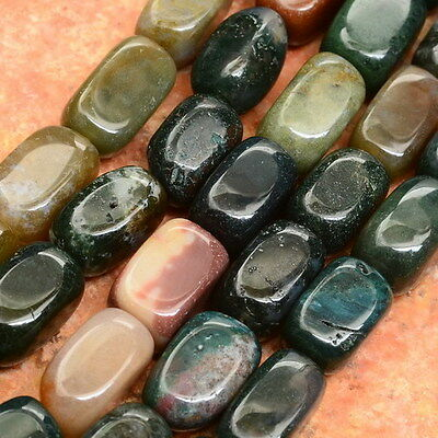"""7 5/8"""" Natural Indian Agate Gemstone Nugget Beads Strand(1 Strand) 13X7X7Mm"""