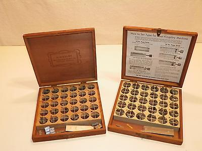 Kingsley Gold Leaf Foil Hot Stamping Stamp Machine Lower Case Letter Type Set