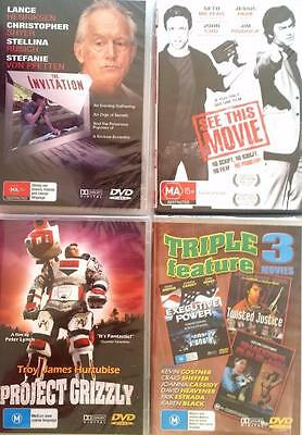 Bulk Lot x 10 Assorted Titles Movies TV Series DVD New & Sealed FREE POST