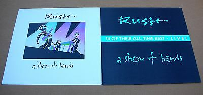 RUSH A Show Of Hands Original 2 Sided Promo 12x12 Poster Flat 1989 Mint-