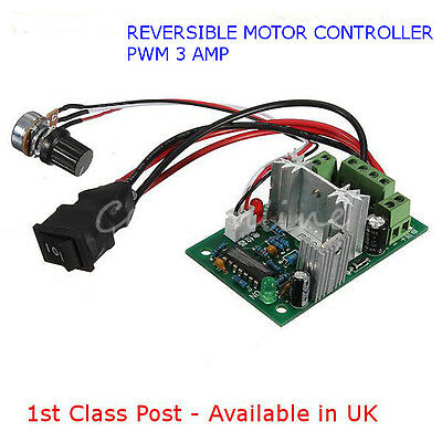 DC Motor Reversible-Speed Controller-10V-30V PWM Regulator 3A - Available in UK