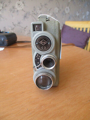 Vintage Eumig C 3 Cine Camera has film in it too (1954 till 1959) with case