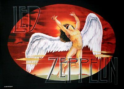 Led Zeppelin Swansong / Icarus large fabric poster / flag 1100mm x 750mm (hr)