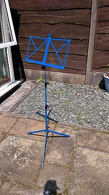 Music Stand - Blue Metal, New