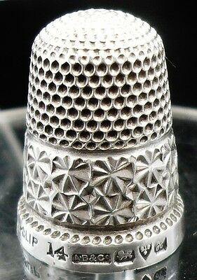 Antique Silver Thimble, Chester 1908, A Bromet & Co