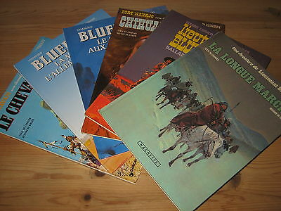 Lot 6 Bd Blueberry, Tomes 7 11 12 13 15 & 19 - Charlier & Giraud, Dargaud Hac Be