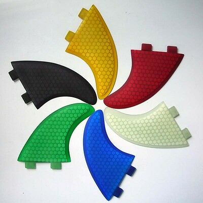 Surfboard Fins Honeycomb G5/M5 Template New! Set of 3 FCS fit surf fins Hexcore