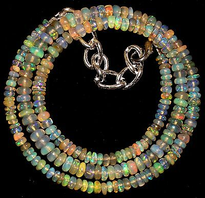 46 Crt 1 Strand 3 mm to 5 mm 16.2 Natural Ethiopian Opal Gemstone Beads 0024