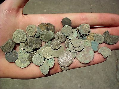 Great Lot Of 50 Pcs Intact Uncleaned Ancient Roman Imperial Coins (Xiii)