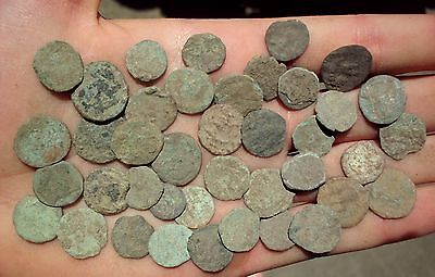 Great Lot Of 40 Pcs Intact Uncleaned Ancient Roman Imperial Coins (X)