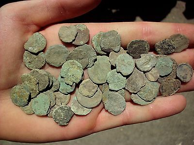 Great Lot Of 50 Pcs Intact Uncleaned Ancient Roman Imperial Coins (Xv)