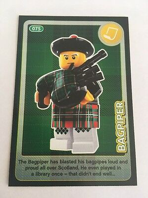 Sainsbury's CREATE THE WORLD - LEGO TRADING CARD - No. 75 - Bagpiper