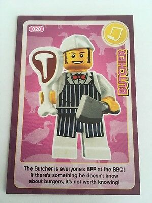 Sainsbury's CREATE THE WORLD - LEGO TRADING CARD - No. 28 -Butcher