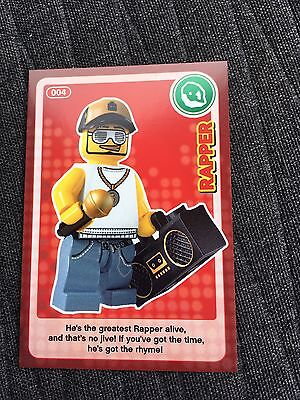Sainsbury's CREATE THE WORLD - LEGO TRADING CARD - No. 04 - Rapper