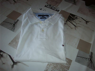 polo tommy hilfiger blanc manches courtes taille xl