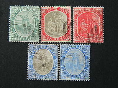 1707 St Kitts Nevis  Sc# 12A//17 (Sg 12//17)  Used