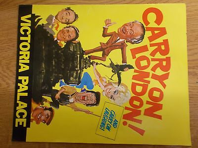 """""""carry On London"""" Theatre Show Programme. 1970's. Vic.palace.james/windsor/"""