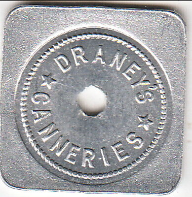 Draney's Canneries Merchant Token - Good For 25c in Trade - Namu, B.C.