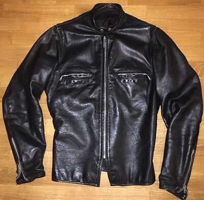 Early 60's USA Vintage Black Cafè Racer leather Jacket Giacca pelle