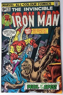 Iron Man #82 Bronze Age Comic MARVEL Peril Of The Apes Jan 1975