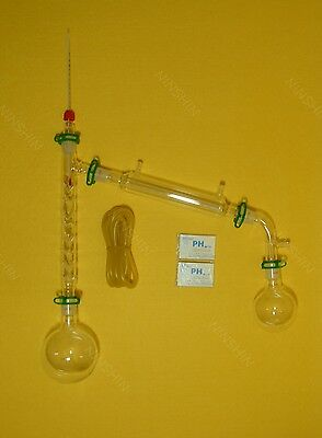 500ml 24/29,Distillation apparatus,vacuum distillation kit with Vigreux column