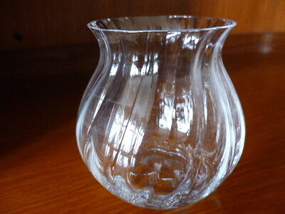 Small Dartington Crystal Ripple Vase