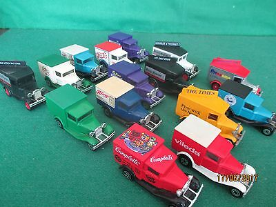 Lledo Diecast Collection '15 X Ford Model A Commercial Vans'