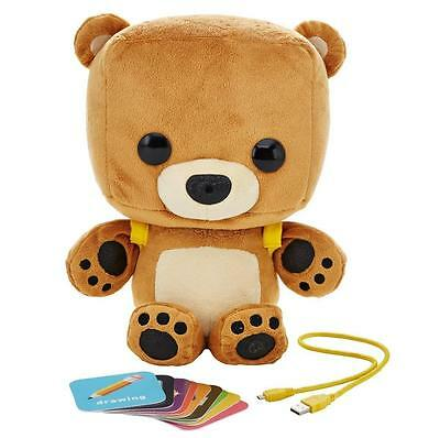 NEW Fisher-Price Smart Toy Bear Ourson Image/Voice Recognition WiFi Talks Learns