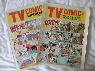 Tv comic 2 issues Nos 645 and 665 (1964)