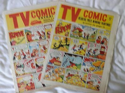 Tv comic 2 issues Nos 564 and 614 (1962/3)