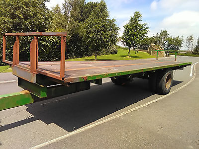25' Flat Single Axle Bale Trailer Tractor Mounted Hay Straw Cart