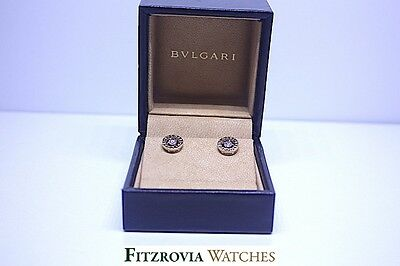 Bvlgari Bulgari 18KT Gold Diamond 0.4CT total VVS Earrings rrp £3600 Immaculate