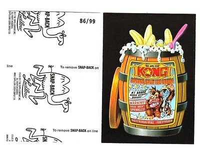 2017 Wacky Packages 50th Anniversary Black Ludlow -KONG ICE CREAM- 86/99
