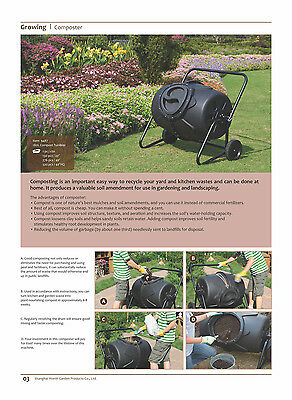 Worth Ecotype Gardening Tumbling Composter 190Litre