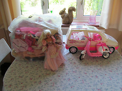 Barbie Doll Bundle With Clothes And Accessories  Vintage