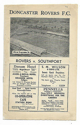 1946/47 Division 3 North - DONCASTER ROVERS v. SOUTHPORT