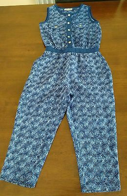 Next girls blue jumpsuit age 3 years excellent condition