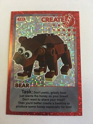 Sainsbury's CREATE THE WORLD - LEGO TRADING CARD - No. 133 - Bear (shiny)