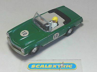 SCALEXTRIC EXIN Vintage 60's SPANISH MERCEDES 250SL COUPE #10 C33 (C32) GREEN