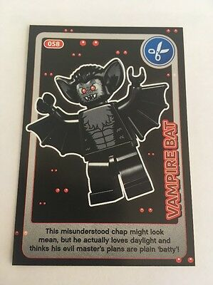 Sainsbury's CREATE THE WORLD - LEGO TRADING CARD - No. 58 -Vampire Bat