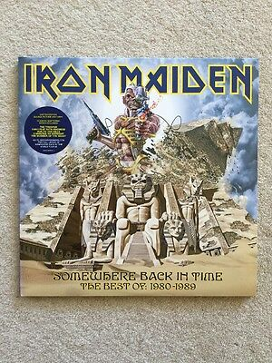 "Iron Maiden - Somewhere Back In Time Ltd Edition Double Picture Disc 12"" Album"