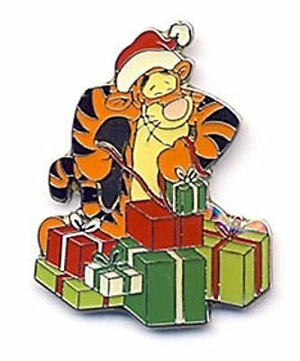 Santa Hat Tigger Disney pin 100 Acre Collection Wraps Christmas Holiday Presents