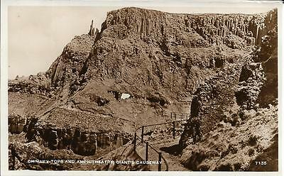 Old Postcard Chimney Tops & Amphitheatre Giants Causeway Antrim N Ireland