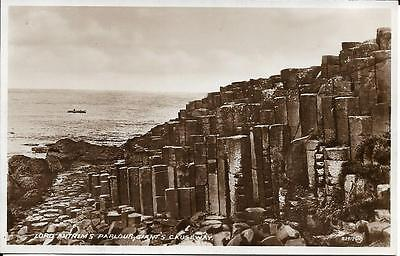 Old Postcard Lord Antrims Parlour Giants Causeway Antrim N Ireland