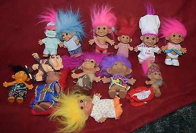 TROLLS Russ Troll lot  Large to Small 20+